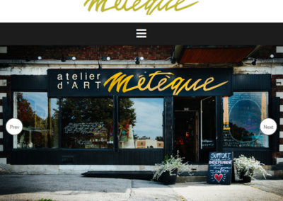 Website snapshot-Meteque Atelier d'art